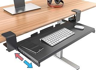 Clamp On Keyboard Tray Under Desk Storage - Ergonomic Desk D