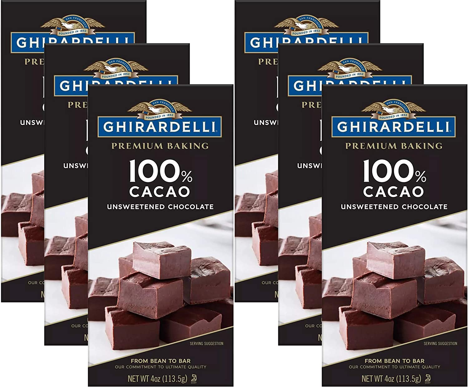Max 77% OFF Ghirardelli Chocolate Baking Bar Chocola Unsweetened Same day shipping Cacao 100%