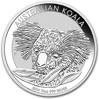 2014 AU Australia 10 oz Silver Koala BU Silver Brilliant Uncirculated