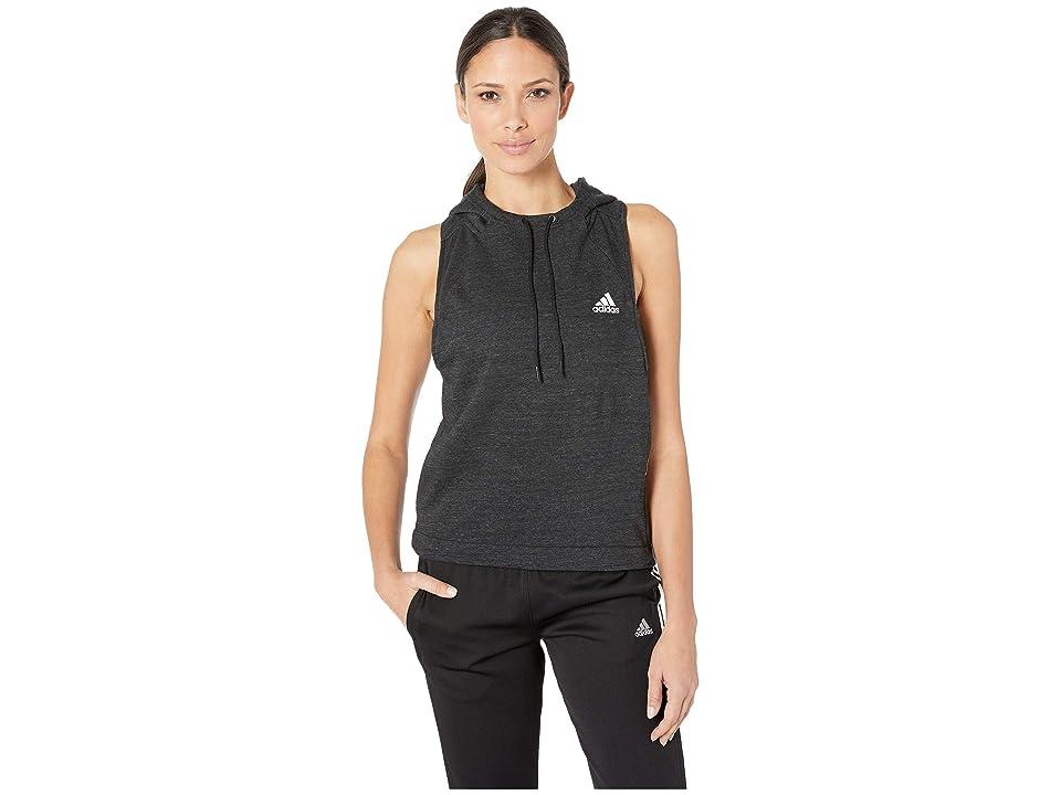 adidas Sport 2 Street Hood Tank Top (Black Melange/White) Women
