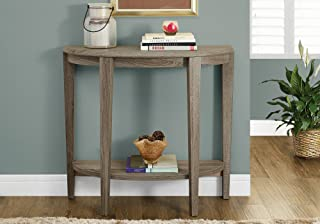 "Monarch Specialties Console Table - Narrow Entry Table, 36"" L (Dark Taupe)"