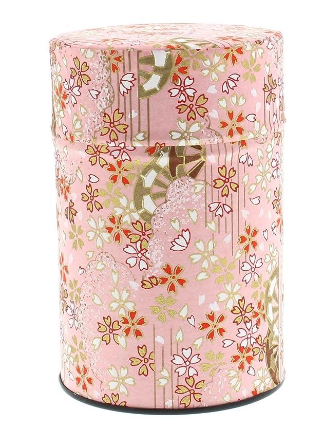 デッドロック熱帯のアイザックイシダ 茶筒 中蓋付き 花柄 和紙