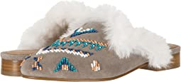 Sedona Faux Fur Beaded Mule