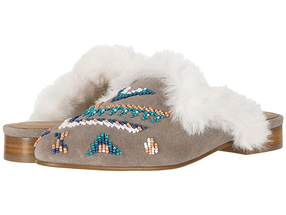 Soludos Sedona Faux Fur Beaded Mule (Ash) Women