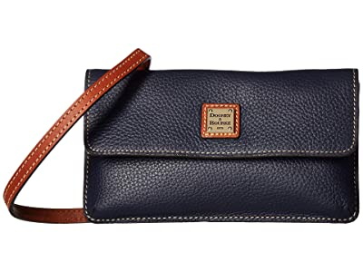 Dooney & Bourke Pebbble Milly Crossbody (Midnight Blue/Tan Trim) Cross Body Handbags