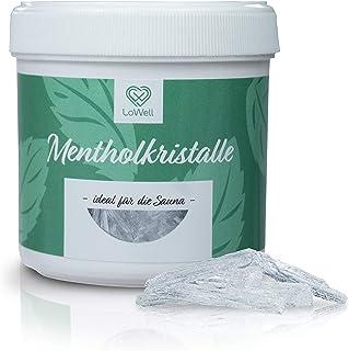 LoWell - 100g Mentholkristalle in praktischer/wiederverschließbarer Dose - Premium-Qualität Sauna Kristalle Menthol