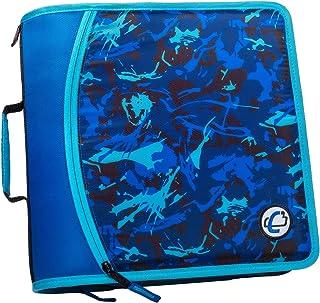 غطاء بسحاب T641P ، سعة 3 بوصة ، مع مبرد موسع 5 علامات ، جيب شبكي بسحاب ، حزام كتف ، بقع زرقاء