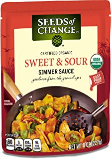 SEEDS OF CHANGE Sweet & Sour Simmer Sauce (6pk)