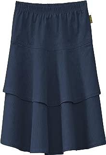 Baby'O Girl's Lightweight 2 Layered Denim Knee Length Skirt