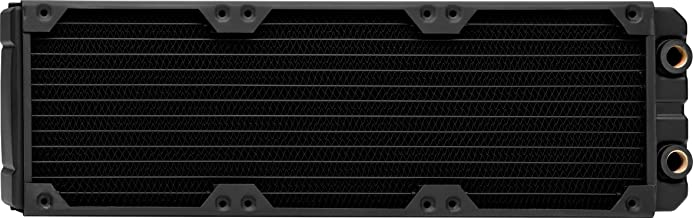 Corsair Hydro X Series, XR7 360 mm Radiador de Refrigeración Líquida (Tres Montaje de Ventilador de 120 mm, Fácil Instalación, Diseño Cobre, Guías Tornillos Integradas, Delgado) Negro