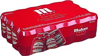 comprar comparacion Mahou - 5 Estrellas Cerveza Dorada Lager, 5.5% de Volumen de Alcohol - Pack de 24 x 33 cl