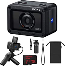 Sony Cyber-Shot RX0 II 15.3MP Ultra-Compact Camera Bundle with 128 GB MicroSDXC UHS-I Memory Card and Shooting Grip and Tripod