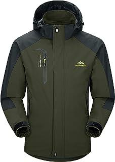 MAGCOMSEN Men's Hooded Softshell Outdoor Windproof Waterproof Mountain Lightweight Jacket