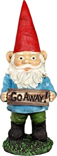 Exhart 13 Inch Multicolor Go Away Gnome, Statuary, Welcome, Office/Front Yard/Backyard/Inside/Outside, Gnomes