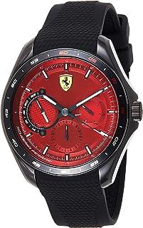 Ferrari Unisex-Adult Quartz Watch, Analog Display and Silicone Strap 830682
