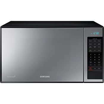 Samsung MG14H3020CM 1.4 cu. ft. Countertop Grill Microwave Oven with Ceramic Enamel Interior, Black Mirror Finish