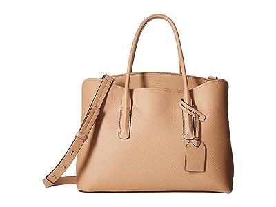 Kate Spade New York Margaux Large Satchel (Light Fawn) Satchel Handbags