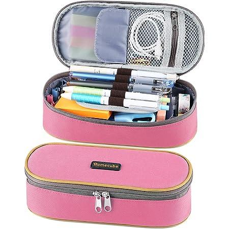 Homecube Multifonctionnelle Sac /à Crayons Grande Capacit/é Stylos Sac Porte-crayon Plumier de Maquillage Pochette Organisateur Sac Stationnaire pour Adolescents Etudiants Trousse