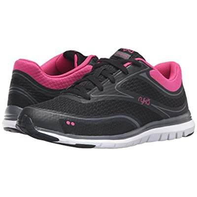 Ryka Charisma (Black/Fuchsia Purple/Iron Grey) Women