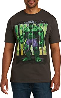 True Nation by DXL Big and Tall Hulk Upset Graphic Tee, Graphite