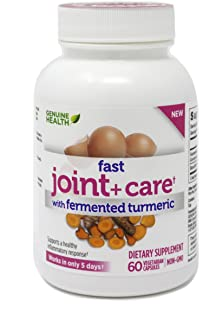 Genuine Health Fast Joint+ Care with Fermented Turmeric, 60 Vegetarian Capsules