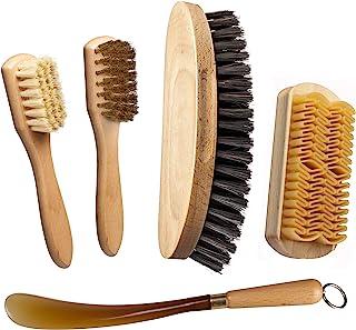 Nettoyage et Soin des Chaussures. Brosse à Chaussures + Brosse avec Laiton + Brosse à suède brosser avec du Caoutchouc pou...