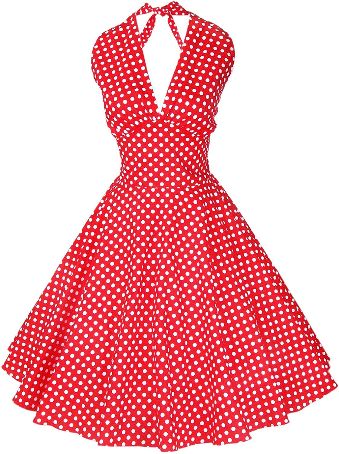 Maggie Tang Women's 1950s Pin up Vintage Marilyn Monroe Rockabilly Swing Dress