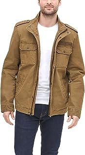Men's Washed Cotton Two Pocket Military Jacket (Standard...