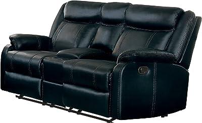 Fabulous Amazon Com Homelegance Center Hill 83 Bonded Leather Inzonedesignstudio Interior Chair Design Inzonedesignstudiocom