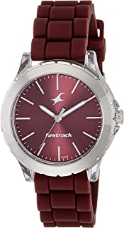 Fastrack Trendies Analog Red Dial Women's Watch NM68009PP06 / NL68009PP06