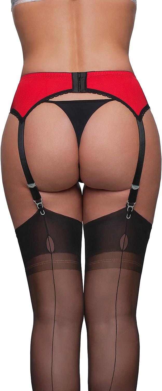 PL6 UK premier lingerie 4 Strap Suspender Belt with Lycra