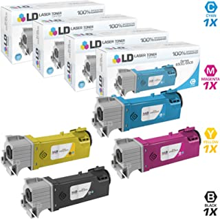 LD Compatible Toner Cartridge Replacements for Xerox Phaser 6500 High Yield (1 Black, 1 Cyan, 1 Magenta, 1 Yellow, 4-Pack)