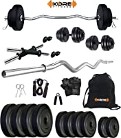 Kore Unisex Adult K Pvc 20Kg Combo 3 Home Gym - متعدد الألوان، مقاس واحد