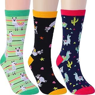 Llama Gifts Llama Socks Cute Corgi Fox Sloth Funny Crazy Socks For Women