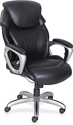 "Lorell Wellness by Design Chair, 49"" x 32.5"" x 28.5"", Black"
