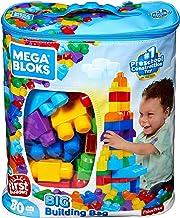 Mega Bloks Bolsa clásica con 80 bloques de construcción, juguete para bebé + 1 año Mattel DCH63)