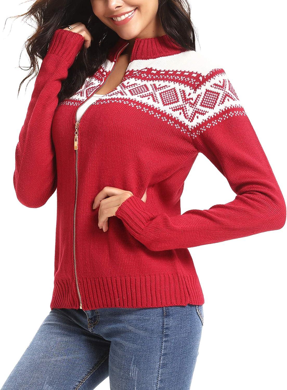 iClosam Couple Cardigan Christmas Open Front Cardigan Sweater Xmas Cardigan Pullover