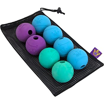 Chew King Fetch Balls Durable Natural Dog Toy Ball, Fetch Toy Collection, Fits Ball Launcher