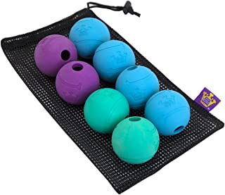 """Chew King Fetch Balls Extremely Durable Natural Rubber Toy 2.5"""", 8-Pack"""