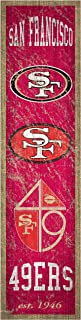 NFL San Francisco 49ers Unisex San Francisco 49ers Heritage Banner Vertical 6x24, Team, 6 x 24