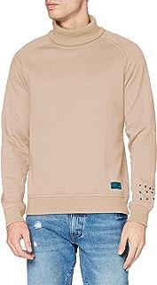 Scotch & Soda Men's Weiches Sweatshirt Mit Hohem Kragen