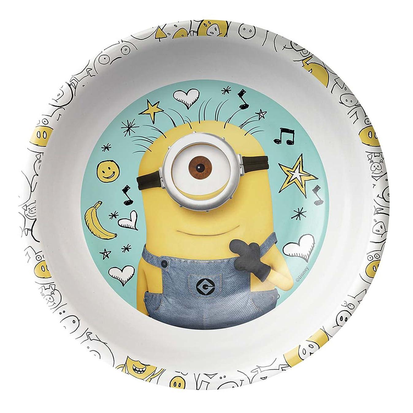 Zak Designs DESD-0367 Despicable Me 2 Mel Bowl W-Rim, 15 oz, Multicolor