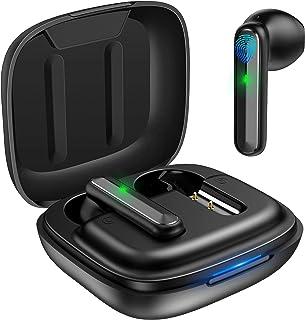 【2021全新ゲーム&ビデオ低遅延技術】ワイヤレスイヤホン bluetoothイヤホン Bluetooth5.1 60ms低遅延モード HI-FI立体音感 IPX8防水規格 3.5g超軽量 46H再生時間 無線/type-c充電 AIノイズキャ...