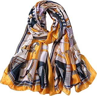 ALBERTO CABALE Long Stole Accessory Reception Silk Comfortable Horses Women Fashion Luxury Shawl Elegance Hair