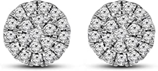 IGI Certified Lab Grown Diamond Earrings 925 Sterling Silver 1/2 carat-1 carat Lab Created Diamond Stud Earring For Women ...