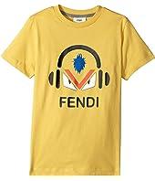 Fendi Kids - Short Sleeve Monster Eyes Headphones Logo T-Shirt (Little Kids)