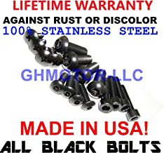 GHMotor Fairings Bolts Screws Fasteners Kit Set Made in USA for 2011 2012 2013 Ducati 848 Evo Black