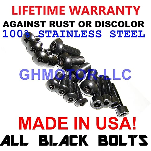 Complete Black Fairings Bolts Kit CBR600RR 2003 2004 2005 2006 GHMotor