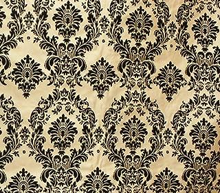 Taffeta Damask Flocking Fabric 58