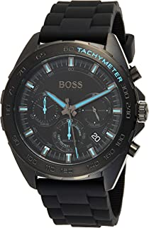 Hugo Boss Mens Quartz Watch, Chronograph Display And Silicone Strap 1513666